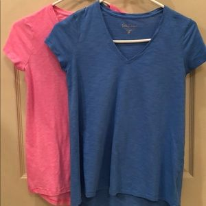Lilly Pulitzer Tops - TWO Lilly Pulitzer Tees 🎉